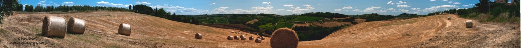 Tuscan Hay Bale Panorama