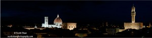 Florence Night Skyline