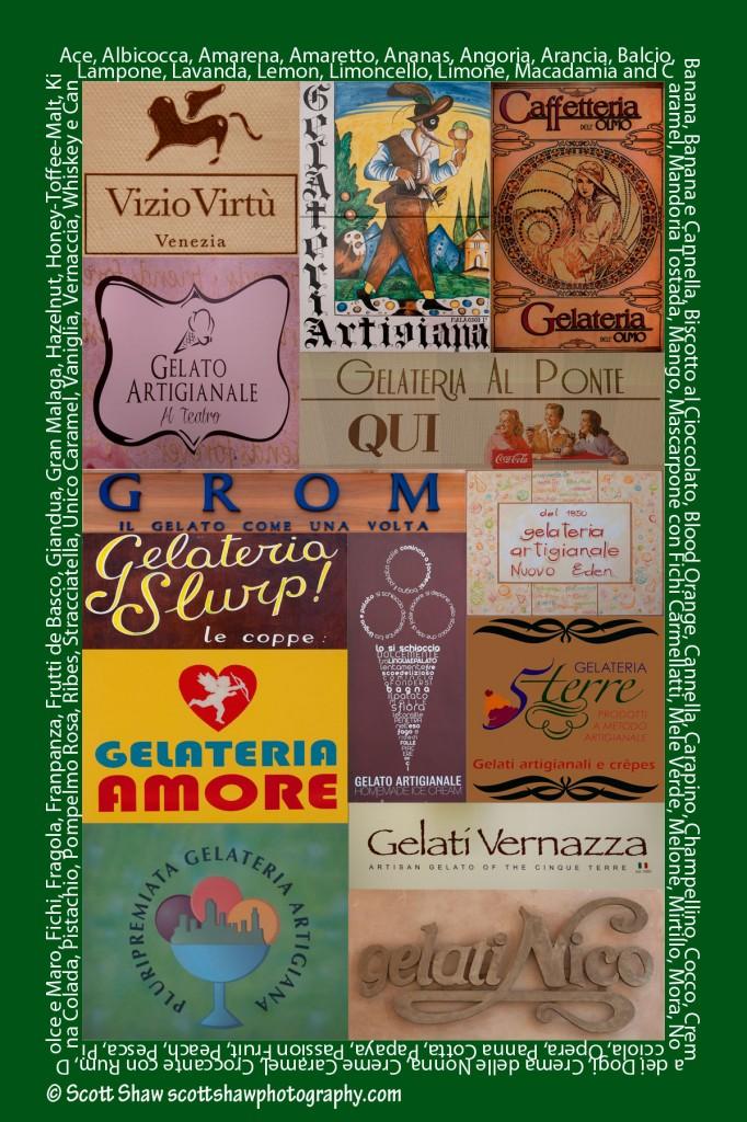 Italian Gelateria Poster