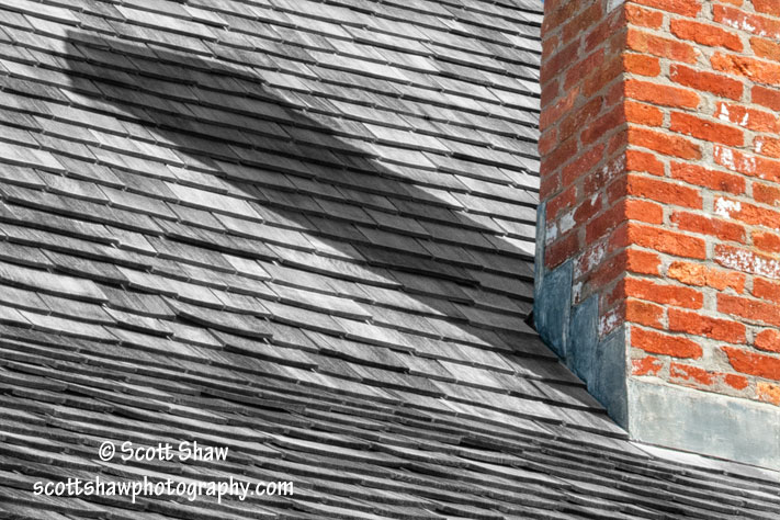 Chimney and Shingle Roof