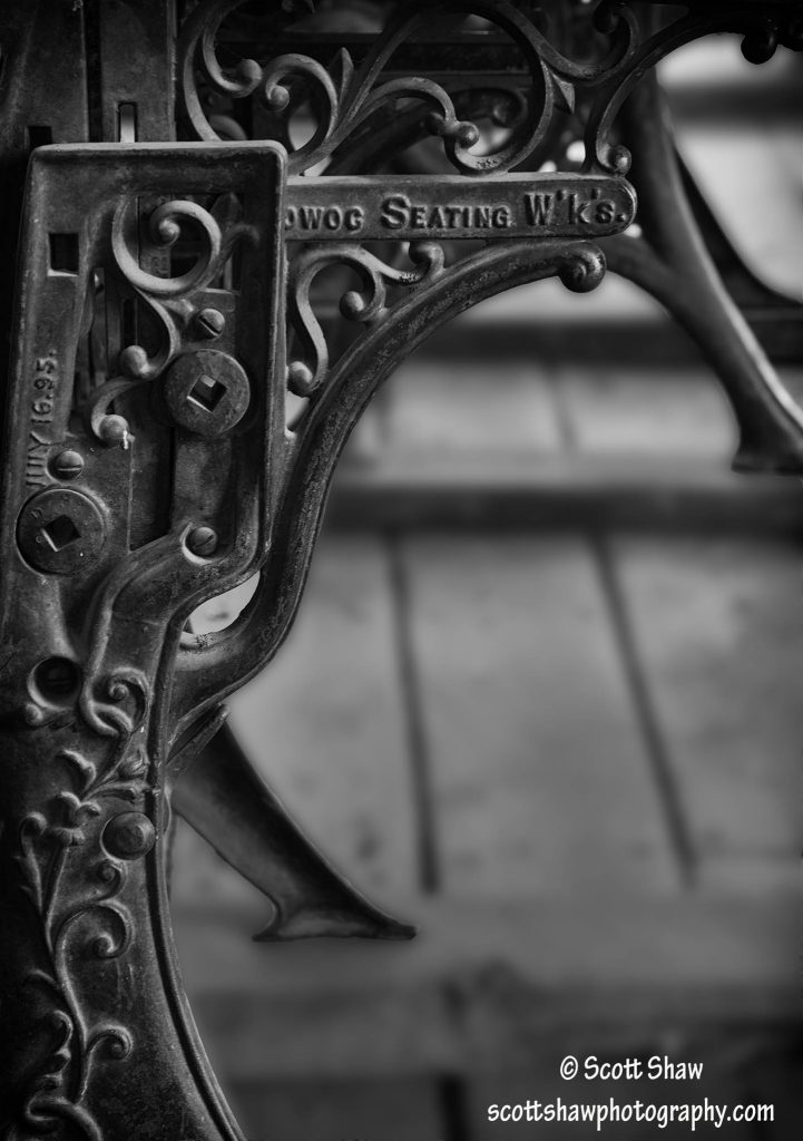 Old-Fashioned School House Desk Support, Bannack State Park