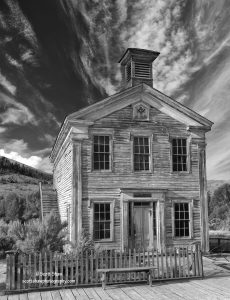 Masonic Lodge/School House, Bannack State Park, Montana Photography