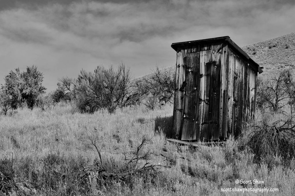 Abandoned Outhouse, Bannack State Park, Montana
