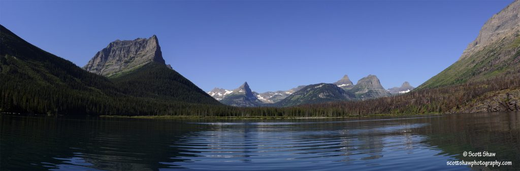 Saint Mary Lake Panorama, Glacier National Park