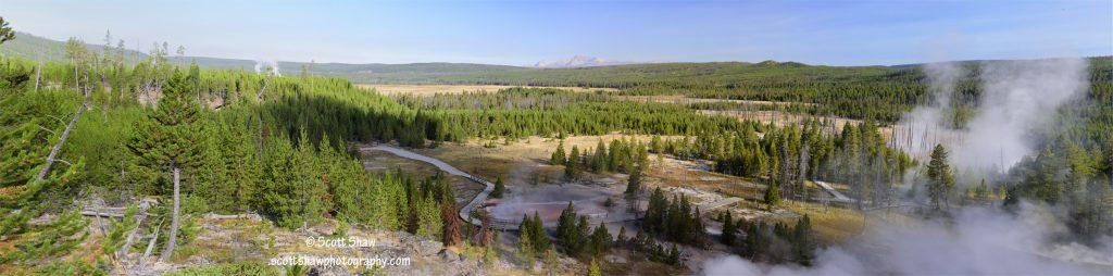 Artists Paint Pot Trail Panorama