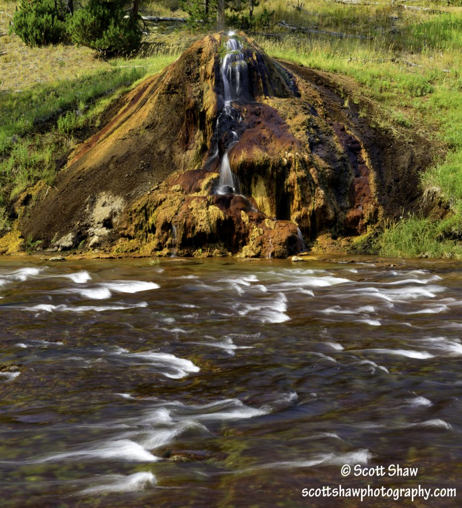 Chocolate Pot on the Gibbon River, Yellowstone National Park