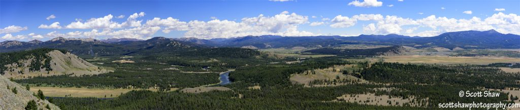 Panorama of the Snake River From Signal Mountain