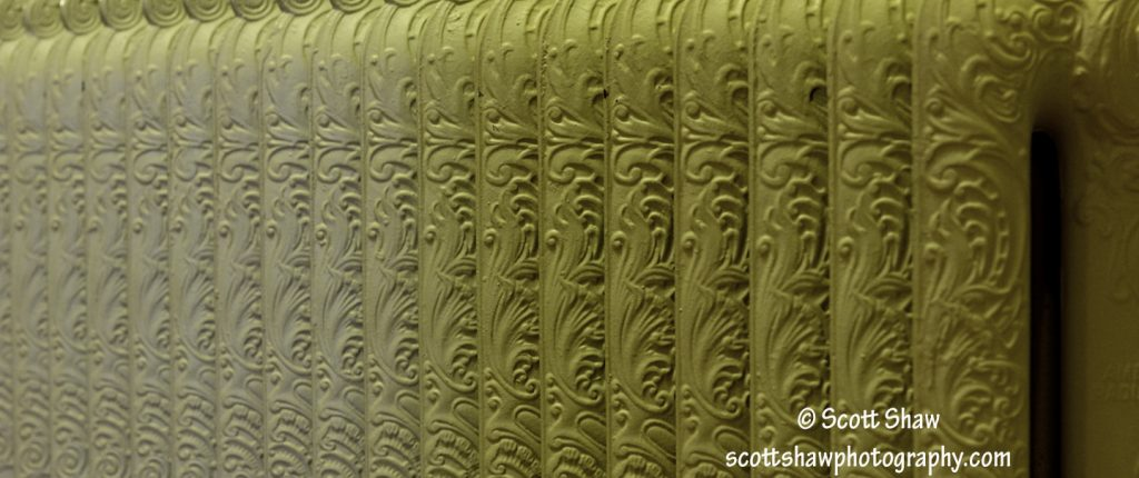 Detail image of a radiator in Daly Mansion, Hamilton MT