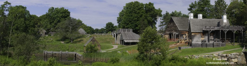Panorama of Saugus Iron Works National Historic Site