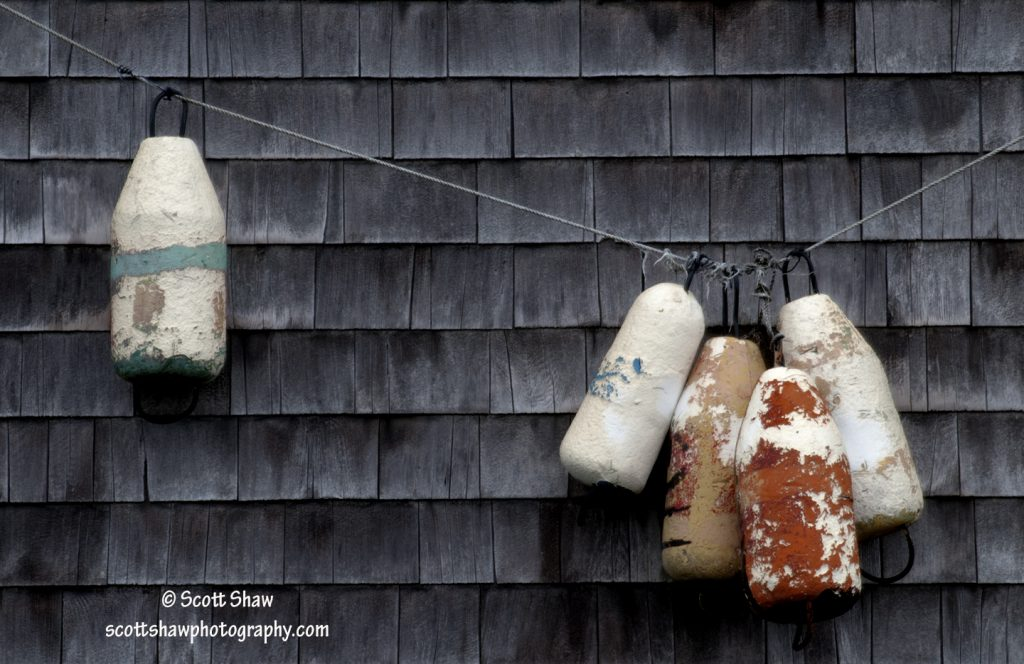 Buoys on Wall