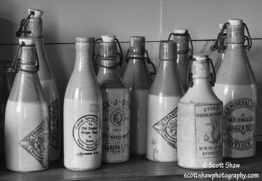 Bottle Shelf, Highland Village, Nova Scotia