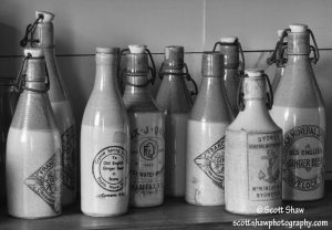 Bottle Shelf, Highland Village, Nova Scotia