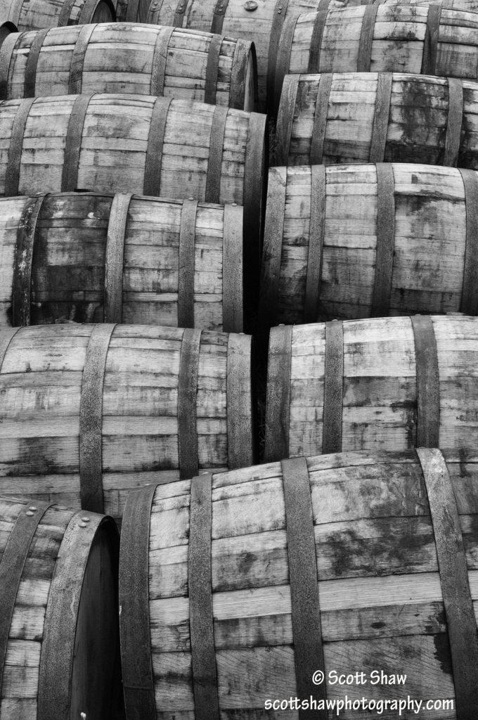 Glenora Distillery Barrels
