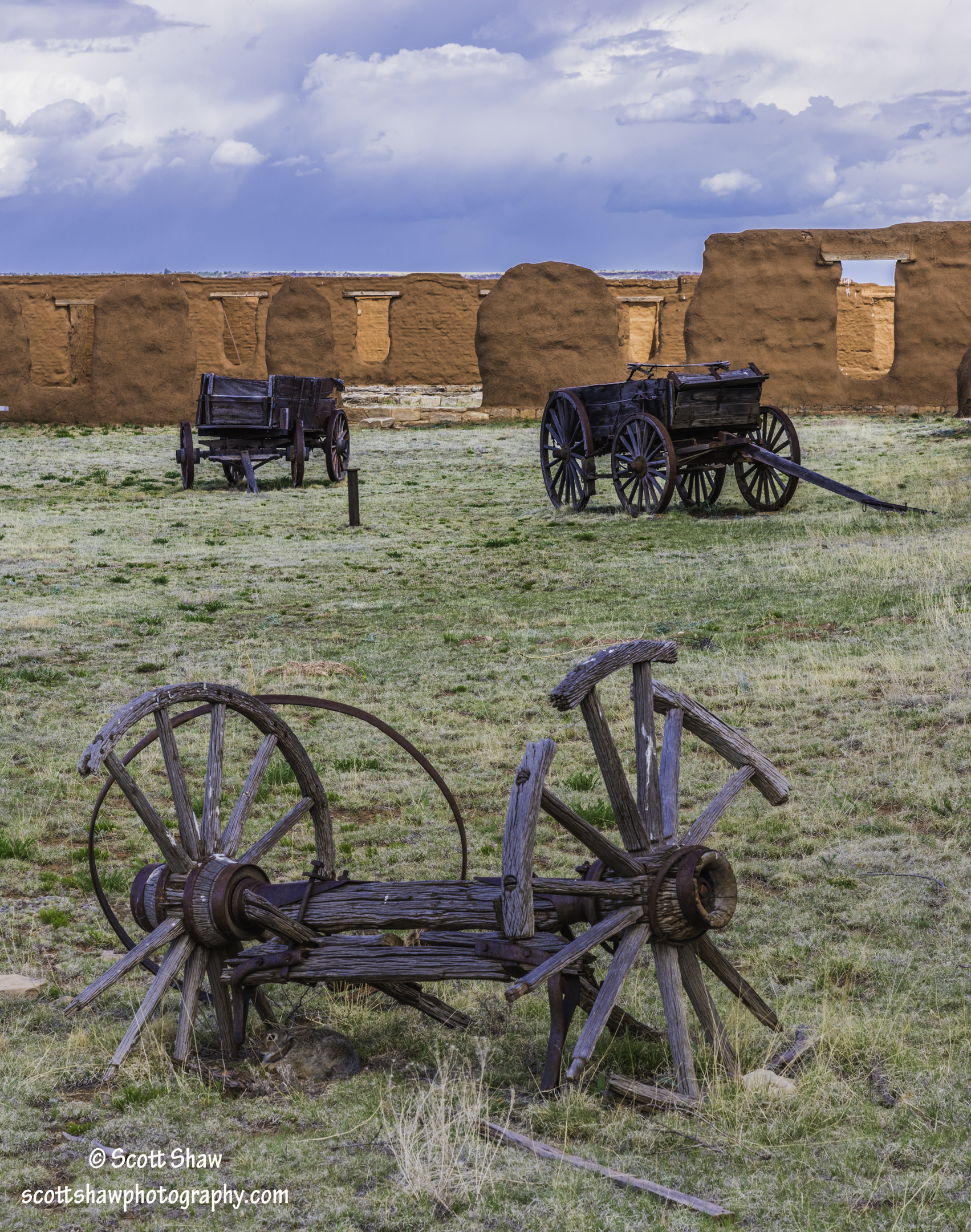 Fort Union National Monument Wagons and Wall