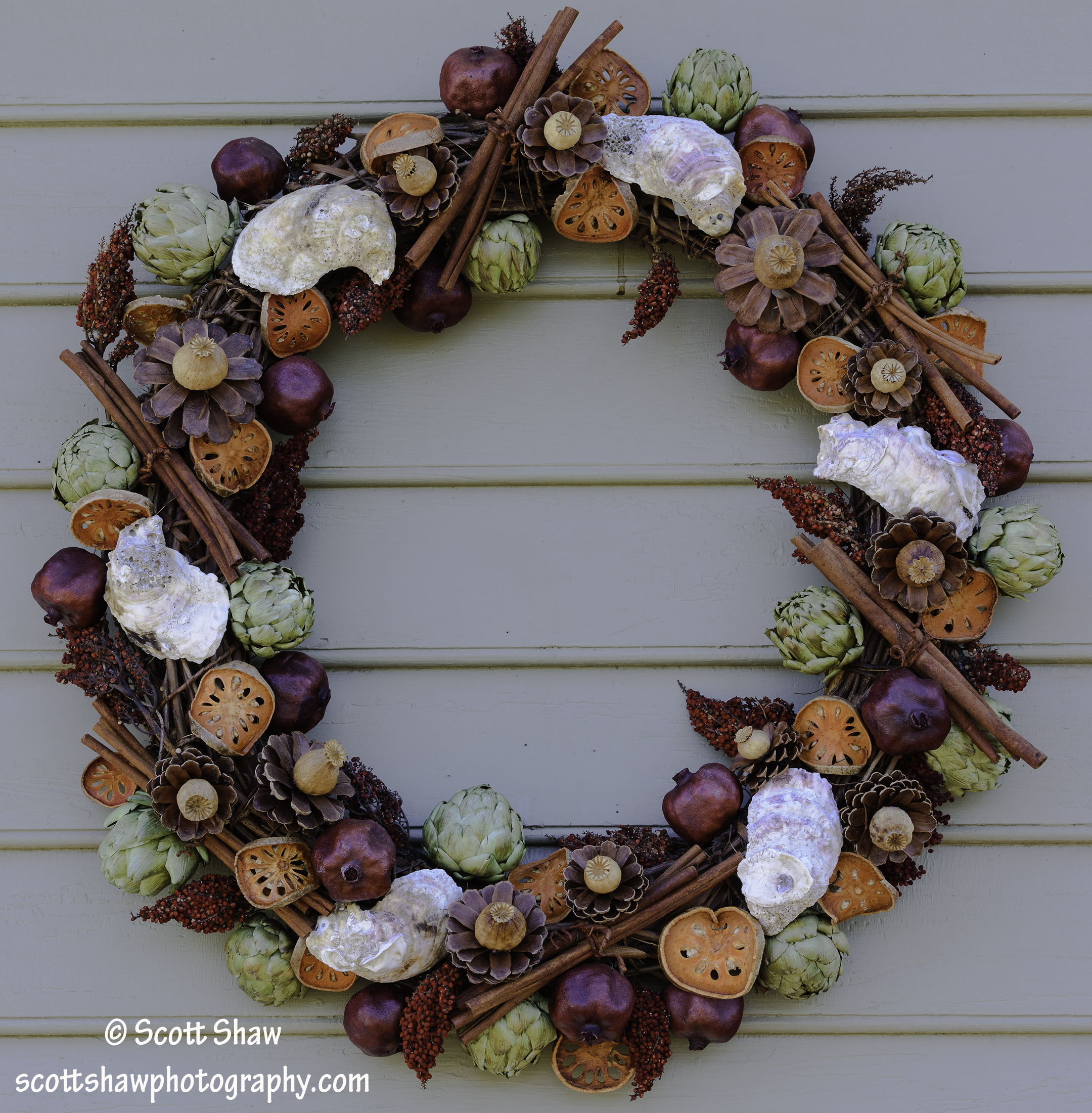 Colonial Williamsburg Oyster Wreath