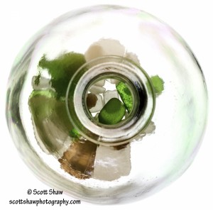 Sea Glass in a Bottle